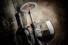 Fine wine - tilt shift selective focus Royalty Free Stock Image