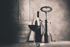 Fine wine - tilt shift selective focus Stock Photos