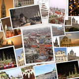 Fine winter photography collage. Vienna Austria Stock Images