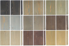 Fine wood texture samples,  on white Royalty Free Stock Images