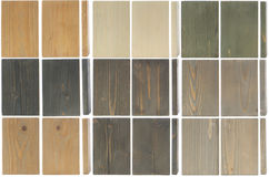 Fine wood texture samples,  on white Royalty Free Stock Photo