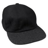 Fine wool black baseball cap grey isolated men hat Stock Photo