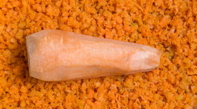 Finely chopped carrots Royalty Free Stock Photo