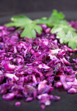 Finely chopped red cabbage Stock Image