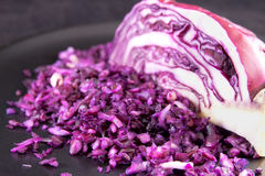 Finely chopped red cabbage Royalty Free Stock Photos