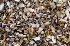 Finely chopped wild mushrooms Royalty Free Stock Photo