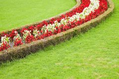 A finely manicured garden shows its colours.  Royalty Free Stock Photography