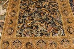 Finely woven silk carpet Stock Photos
