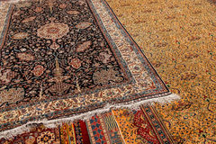 Finely woven silk carpet Royalty Free Stock Photography