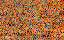 Finely woven silk carpets Stock Photo