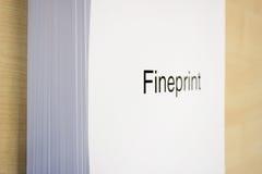 Fineprint Lizenzfreies Stockbild