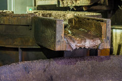 Finery forge close-up. View of heavy factory with finery forge close-up Stock Image