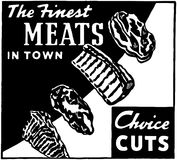 The Finest Meats In Town Royalty Free Stock Photo