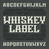 Finest quality whiskey label font Royalty Free Stock Image