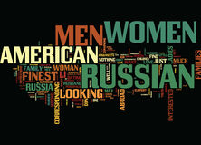 Finest Russian Women Still Want American Men Why Text Background Word Cloud Concept Stock Photography
