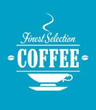 Finest selection coffee banner Royalty Free Stock Images