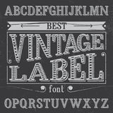 Finest Vintage Label Font Poster. On dusty noise background vector illustration Royalty Free Stock Photo