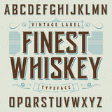 Finest Whiskey Poster. With decoration and ribbon  in vintage style vector illustration Stock Photography