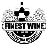 Finest wine stamp. Finest wine grunge rubber stamp on white background, vector illustration Stock Photography