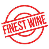 Finest Wine rubber stamp. Grunge design with dust scratches. Effects can be easily removed for a clean, crisp look. Color is easily changed Royalty Free Stock Images