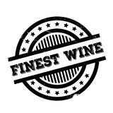 Finest Wine rubber stamp. Grunge design with dust scratches. Effects can be easily removed for a clean, crisp look. Color is easily changed Royalty Free Stock Photo