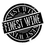 Finest Wine rubber stamp. Grunge design with dust scratches. Effects can be easily removed for a clean, crisp look. Color is easily changed Royalty Free Stock Image