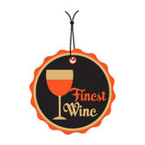 Finest wine tag. Isolated tag with the text finest wine written on the tag Royalty Free Stock Images