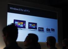 Finestra 8 di previsioni di Microsoft fotografia stock libera da diritti