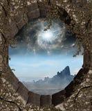 Finestra ad un altro mondo Fotografie Stock Libere da Diritti