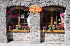 Finestra alla moda a Quebec City Fotografie Stock Libere da Diritti