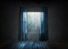 Finestra alla notte Fotografie Stock Libere da Diritti