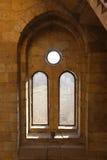 Finestra antica a Mohammed Ali Palace - Il Cairo, Egitto Immagini Stock Libere da Diritti