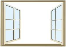 Finestra aperta con spazio vuoto per testo Fotografie Stock Libere da Diritti