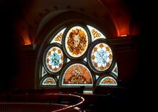 Finestra artistica della chiesa Fotografie Stock