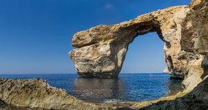 Finestra azzurrata a Gozo, Malta Fotografie Stock