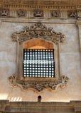 Finestra barrocco con la gelosia del ferro, dettaglio Fotografia Stock Libera da Diritti