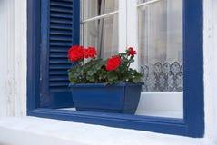 Finestra blu fotografia stock