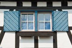 finestra blu Fotografie Stock Libere da Diritti