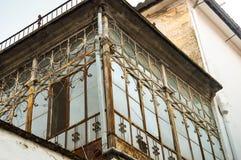 Finestra caratteristica di una casa spagnola Fotografia Stock
