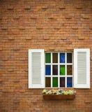 Finestra colorata aperta Immagini Stock