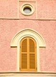 Finestra con l'arco Fotografia Stock