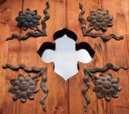 Finestra con la decorazione del ferro Immagini Stock Libere da Diritti