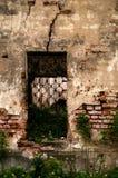 Finestra con la grata in ferro battuto Immagini Stock Libere da Diritti
