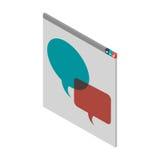 Finestra con le finestre di dialogo a colori Immagine Stock Libera da Diritti
