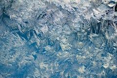 Finestra congelata Fotografie Stock
