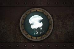 Finestra corazzata sottomarina Fotografia Stock Libera da Diritti