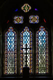 Finestra 3 ~ Cornovaglia della chiesa di Cubert Fotografia Stock Libera da Diritti