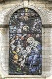 Finestra da Eglise famoso Notre Dame de Bonsecours immagine stock