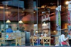 finestra del caffè Immagine Stock
