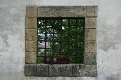Finestra del castello Immagini Stock Libere da Diritti